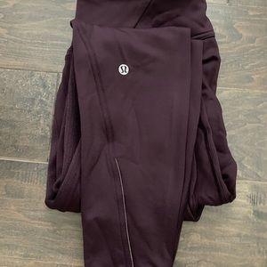 Lululemon size 8 maroon color, light fleece.